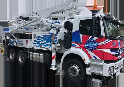 Concrete Pump Truck | Concrete Services | Gold Coast | Classic Concrete Pumping | Putzmeister 24zr