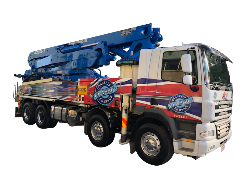 Concrete Pump Truck | Concrete Services | Gold Coast | Classic Concrete Pumping | Everdigm 50cx5