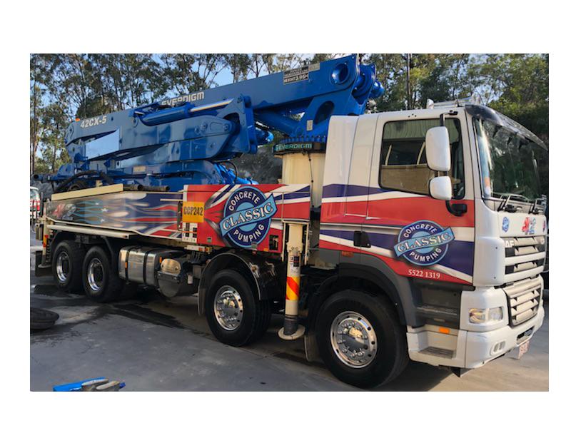 Concrete Pump Truck   Concrete Services   Gold Coast   Classic Concrete Pumping   Everdigm 50cx5
